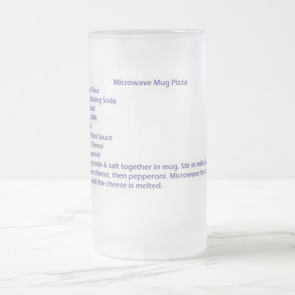 Frosted Mug With Microwave Mug Pizza Recipe 16 Oz