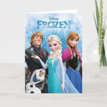 Frozen | Anna, Elsa, Kristoff and Olaf Card