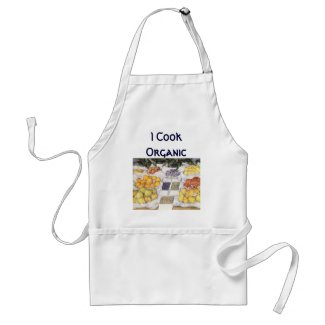 Fruit Displayed on a Stand by Gustave Caillebotte zazzle_apron