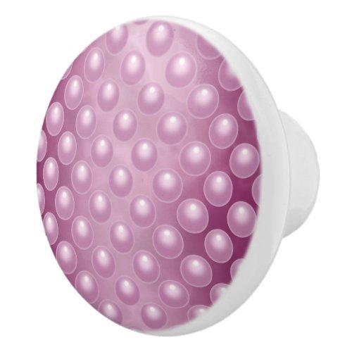 Fuchsia Marble Bubbles Ceramic Knob