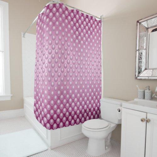 Fuchsia Marble Bubbles Shower Curtain