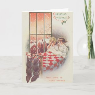 Full Stockings Christmas Card card