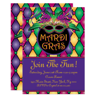 Fun And Festive Mardi Gras Invitations