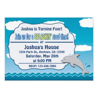 Dolphin Kids Birthday Party Invitations Cat Pet N Other Gifts