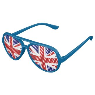 Fun British flag party glasses | Union Jack shades Aviator Sunglasses
