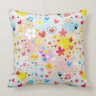fun cartoon pattern pillow