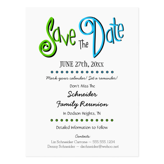 Design Your Own Save Date Postcard