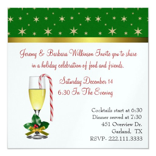 Fun Festive Wine Glass Christmas Party Invitation Zazzle