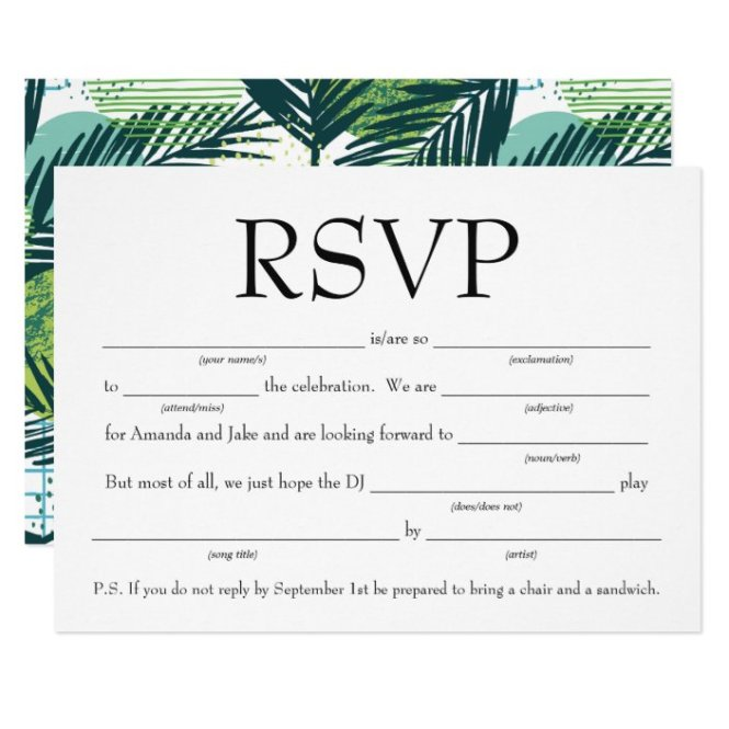 Fun Fill In The Blank Rsvp W Song