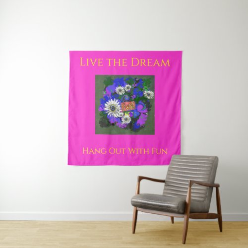 Fun Flower Colorful Attraction Tapestry