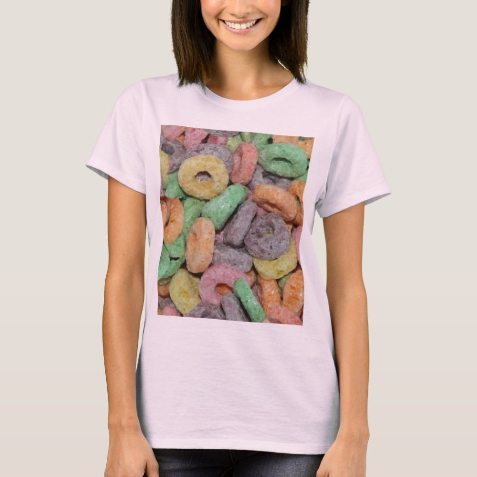 Fun Funny Cereal Food Pattern T-Shirt