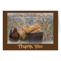 Fun Hen Tea Party Thank You Card
