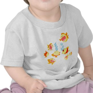Fun in The Fish Tank cartoon Baby T-Shirt shirt