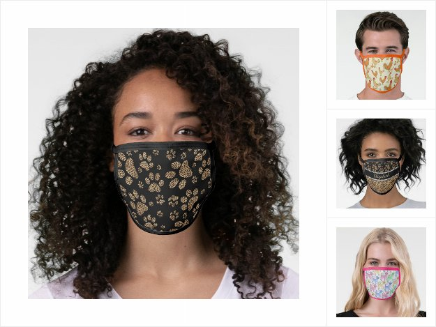 Fun Pattern Design Cotton and Poly Blend Face Mask