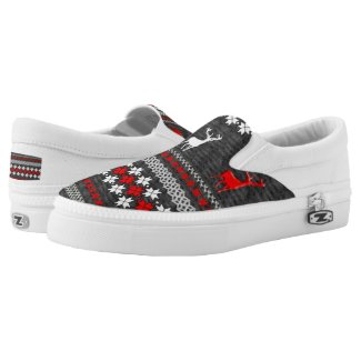 Fun Scandinavian Christmas Patterned Printed Shoes