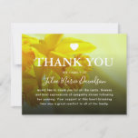 Pretty Yellow Daffodil Funeral Sympathy Thank You Card