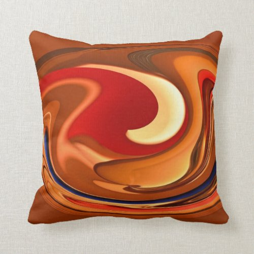 Funky Abstract Burnt Orange Red Throw Pillow