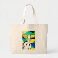 Funky Alpaca Large Tote Bag