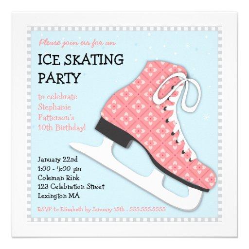 personalized skating invitations custominvitations4u com