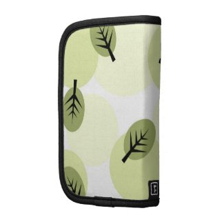Funky green leaves pattern planner