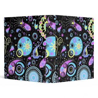 funky hippie design binder
