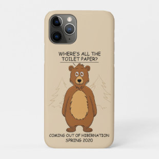 Funny Bear out of Hibernation Cartoon iPhone 11 Pro Case