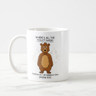 Funny Bear out of Hibernation Cartoon Coffee Mug
