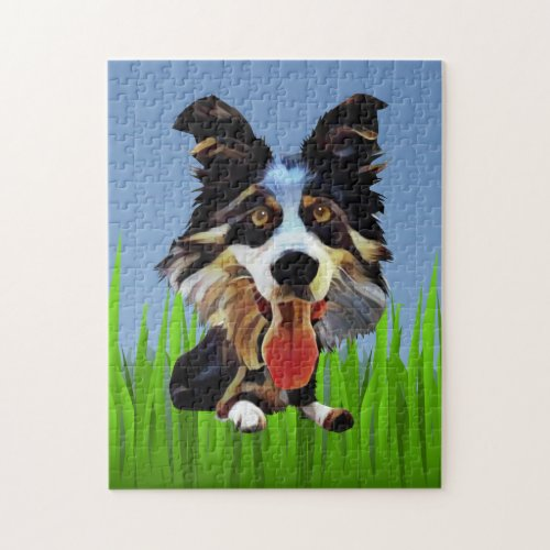 Funny Border Collie 252 Piece Puzzle