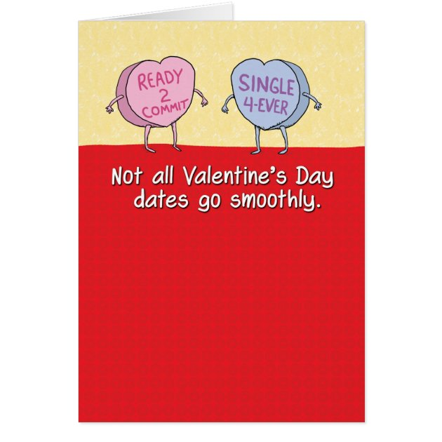Funny Candy Hearts Bad Date Valentines Day Card