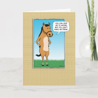 Funny card: Margarita Horse card
