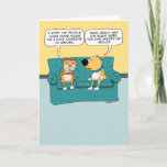 Funny Cat Ignoring Dog Birthday Card