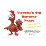 Sweet Fun Customizable Baby Chicken Birthday Party  Invitation