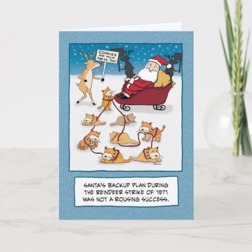 Funny Christmas card: Sleigh Cats card