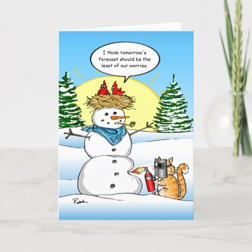 Funny Christmas Cards | Tabby Cat Holiday Greeting