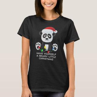 Funny Christmas Song Pun Panda Dark T-Shirt