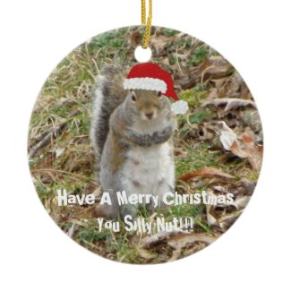 Funny Christmas Squirrel Ornament ornament