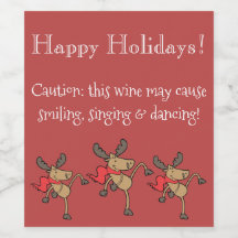 Funny Christmas wine label