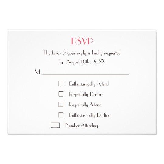 Funny Cool Fun Custom Wedding RSVP Card Invite Zazzle