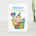 ❤️ Fun Fabulous Just Like You Cow Birthday Card
