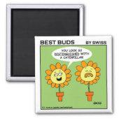 Funny Distinguished Flower Cartoon Fridge magnet