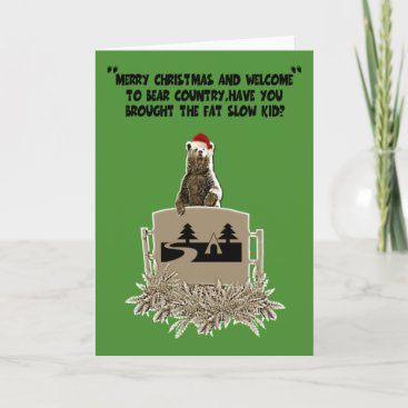 Funny fat joke Christmas Holiday Card