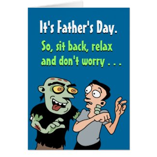 Funny Father's Day Cards: Relax