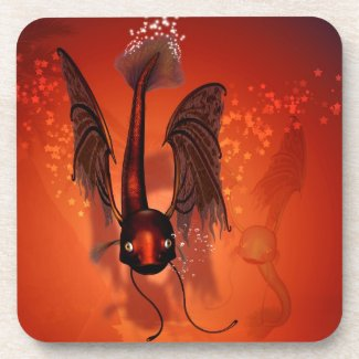Funny flying fish drink coasters