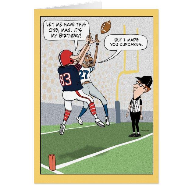 Funny Football Birthday Card Zazzle