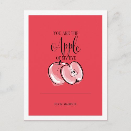Funny Fruit Pun Apple Valentine Postcard