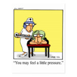 Funny A Little Pressure Get Well Postcard