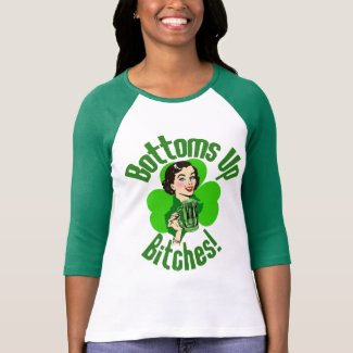Funny Irish Bottoms Up Tee Shirts