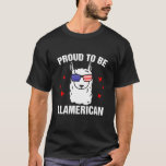 ❤️ Funny Llama Proud To Be Llamerican 4th of July Wom T-Shirt