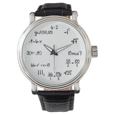 Funny Math Wiz (pop quiz) Wrist Watch