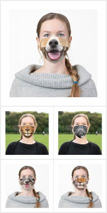 Funny Mouth Photo Image Cloth Face Masks